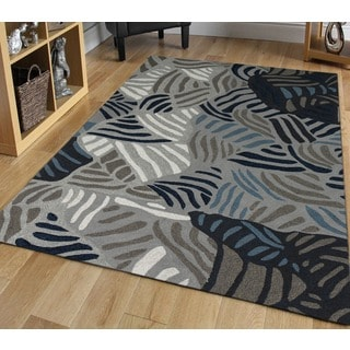 San Mateo Grey Multi-purpose Rug (4' x 6')