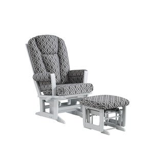 Dutailier Modern Multiposition Glider with Nursing Ottoman Combo