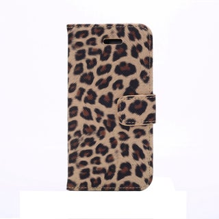 iPM Leopard Print Leather Wallet Storage and Protective case for iPhone 6