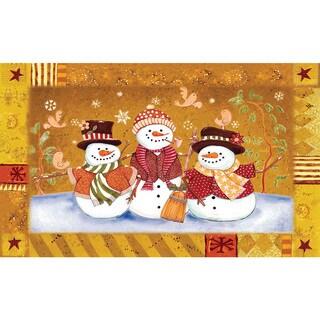 Indoor/ Outdoor Snowman Couple Doormat (18 x 30)
