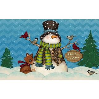Indoor/ Outdoor Chevron Snowman Doormat (18 x 30)