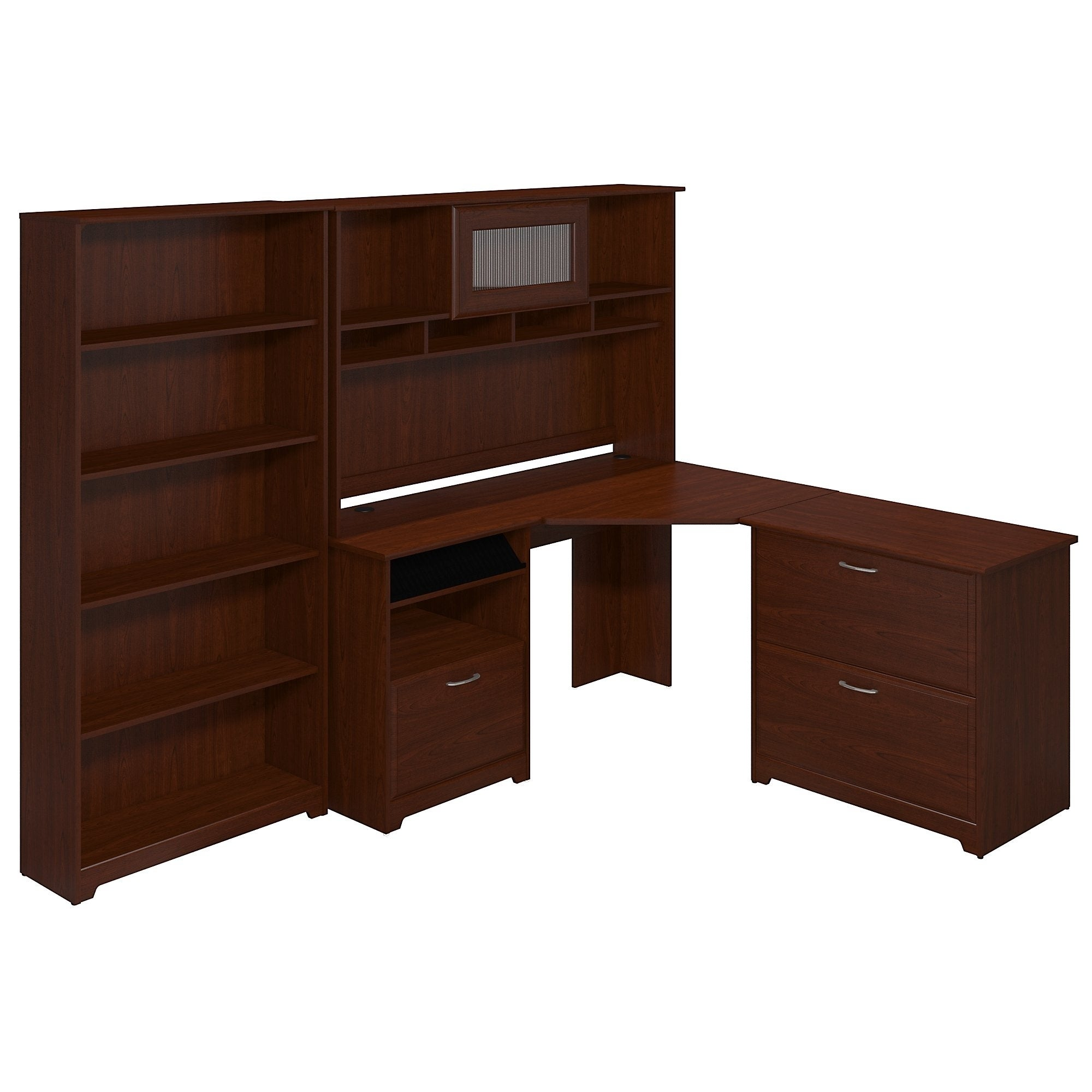 desk with and furniture pdp reviews hutch three drawers ca wayfair leith posts computer