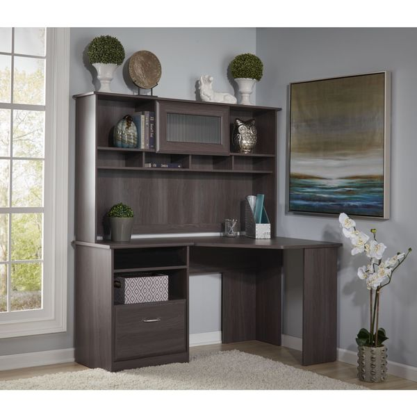 bush furniture cabot collection corner desk with hutch bush home office furniture