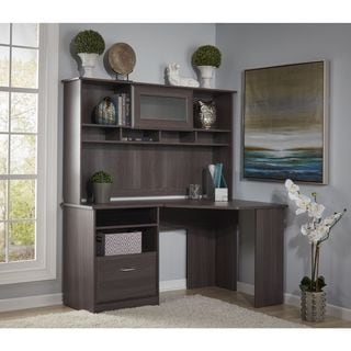 Cabot Collection Corner Desk with Hutch