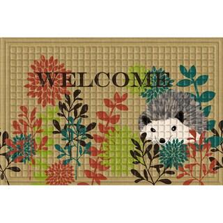 Indoor/ Outdoor Hedgehog Welcome Doormat (24 x 36)