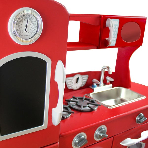 Teamson Kids Red Play Kitchen   Free Shipping Today   Overstock.com    17857117