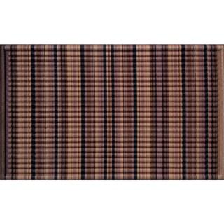 Indoor/ Outdoor Stripe Brown Doormat (18 x 30)