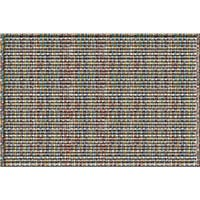Indoor/ Outdoor Rag Rug Stripe Doormat (18 x 30)