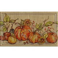 Indoor/ Outdoor Watercolor Gourds Doormat (18 x 30)