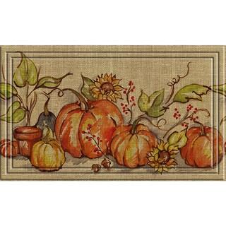 Indoor/ Outdoor Watercolor Gourds Doormat (18 x 30)
