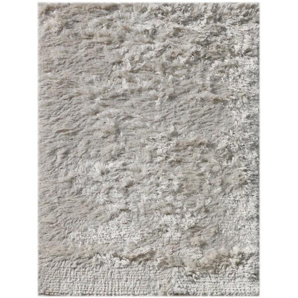 Pacifica White Shag Rug (2' x 3')