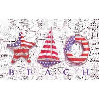 Outdoor Beach Patriot Doormat (18 x 30)
