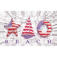 Outdoor Beach Patriot Doormat (18 x 30)
