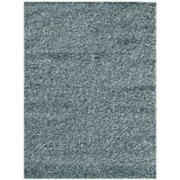 Pacifica Sea Blue Shag Rug (5' x 8') - 5' x 8'