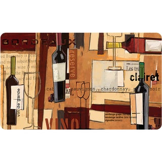Indoor Bold Wine Kitchen Mat (18 x 30)