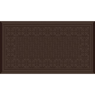 Indoor Fleur De Lis Chocolate Kitchen Mat (20 x 36)