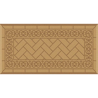 ComfortMate Backsplash Tan Kitchen Mat (20 x 39)