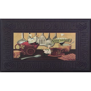 Indoor Vive Le Cafe Kitchen Mat (20 x 34)