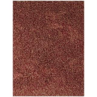 Confeiti Red Shag Rug (7'6 x 9'6)