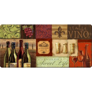 Indoor Wine Food Friends Kitchen Mat (20 x 42)