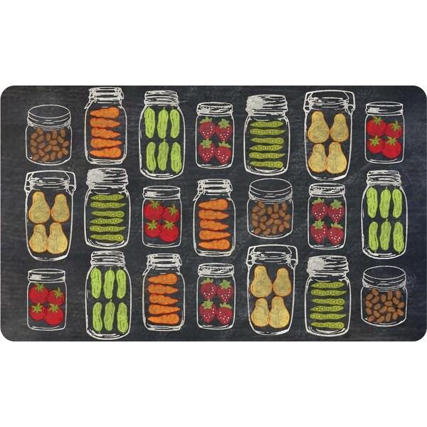 Veggie Jars Indoor Memory Foam Kitchen Mat (18 x 30)