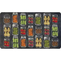 Veggie Jars Indoor Memory Foam Kitchen Mat (18 x 30)