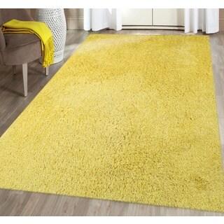 Palo Alto Yellow Shag Rug (3'6 x 5'6)