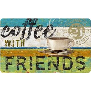 Indoor Coffee With Friends Kitchen Mat (18 x 30)