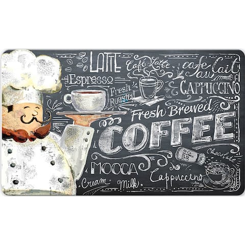 Indoor Coffee Chef Kitchen Mat (18 x 30)