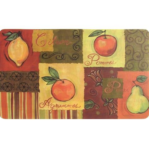 Indoor Fruit Collage Kitchen Mat (18 x 30)