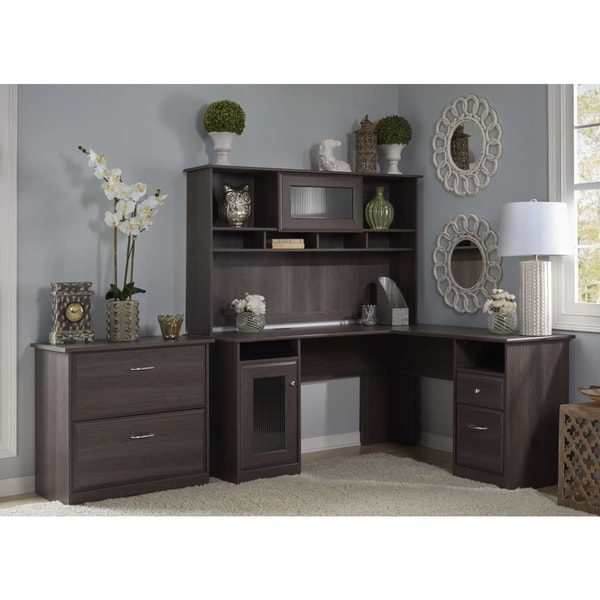 Shop Cabot L Shaped Desk With Hutch And Lateral File