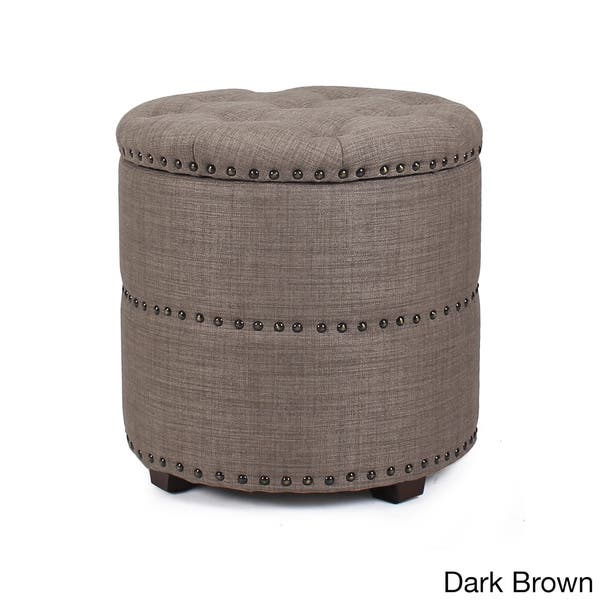 Peachy Shop Adeco Fabric Round Storage Ottoman Free Shipping Caraccident5 Cool Chair Designs And Ideas Caraccident5Info