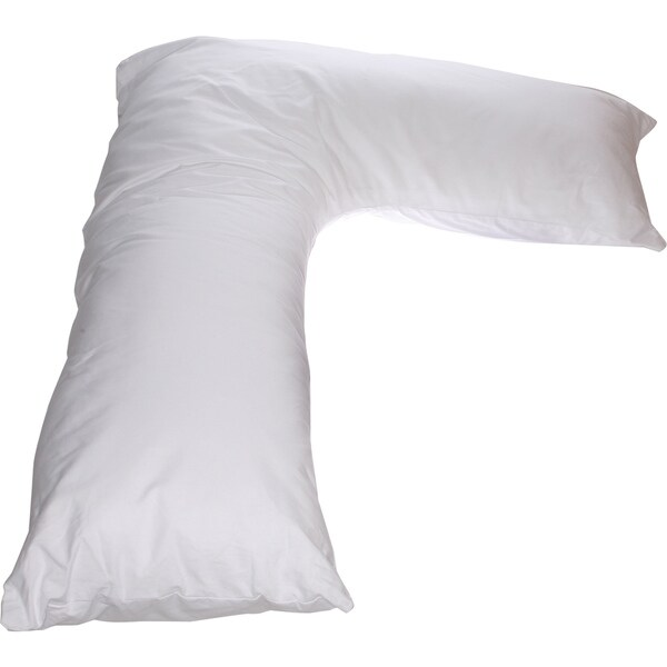 L Shaped Long Body Pregnancy Pillow with Neck Support for Side Sleeping