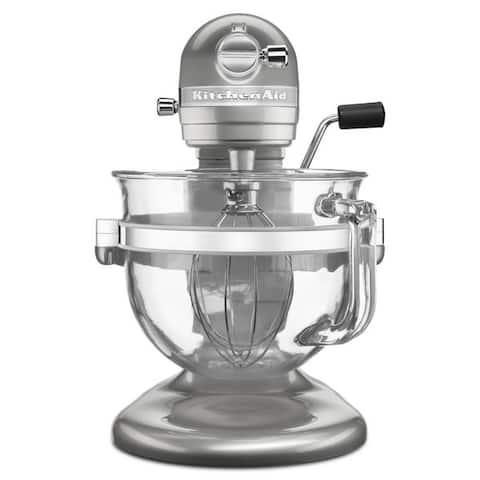 KitchenAid KSM6521XSR Sugar Pearl Silver Professional 6500 Design Series bowl-lift Stand Mixer