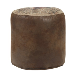 Stone Deer Tapestry Pouf Ottoman