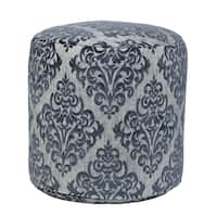 Yorkshire Turquoise Tapestry Pouf Ottoman