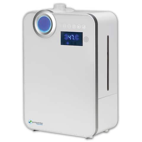 PureGuardian H7550 100 hr. Ultrasonic Warm Mist and Ultrasonic Cool Mist Humidifier with Digital Smart Mist Sensor