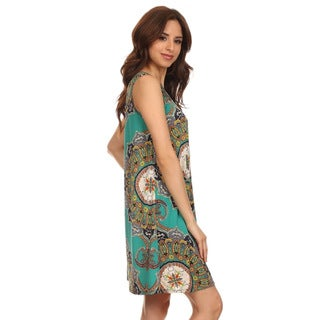 MOA Collection Women's Mandala Print Sleeveless Dress