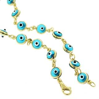 14k Yellow Gold 5.5mm Baby Blue Evil Eye Good Luck Bracelet https://ak1.ostkcdn.com/images/products/10812354/P17857436.jpg?impolicy=medium