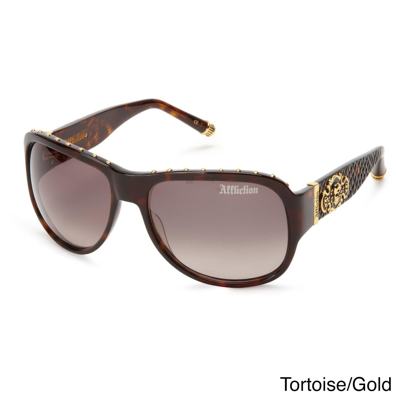 Affliction Unisex Raven Designer Sunglasses - S (Tortoise...