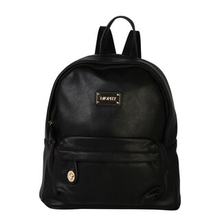 Diophy Signature Logo Pebble PU Leather Backpack
