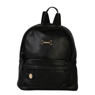 Diophy Signature Logo Pebble PU Leather Backpack|https://ak1.ostkcdn.com/images/products/10812378/P17857364.jpg?impolicy=medium