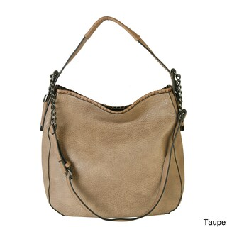 Diophy Chain Shoulder Strap Hobo Style Handbag (Option: Taupe)