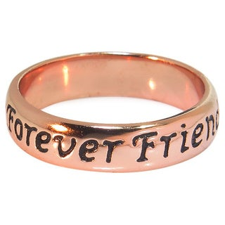 Eternally Haute 14k Rose Goldplated Sterling Silver 'Friends Forever' Ring