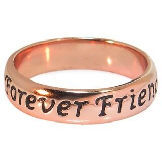 Eternally Haute 14k Rose Goldplated Sterling Silver 'Friends Forever' Ring