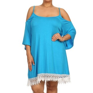 MOA Collection Women's Plus Size Trimmed Tunic