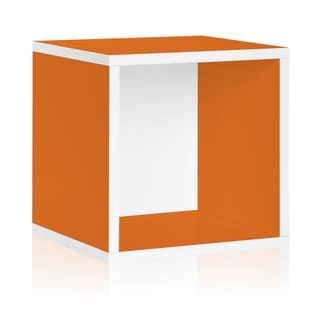 Way Basics Orange Stackable Large Storage Cube