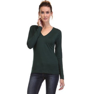 Spicy Mix Women's Clara Deep V-neck Long Sleeve Knit Top