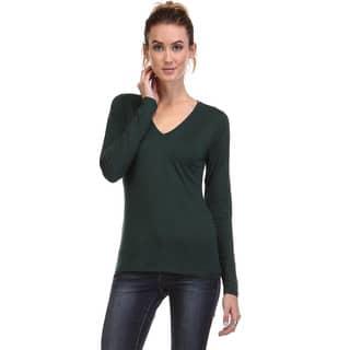 Spicy Mix Women's Clara Deep V-neck Long Sleeve Knit Top|https://ak1.ostkcdn.com/images/products/10812488/P17857519.jpg?impolicy=medium