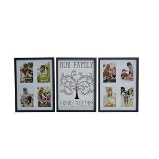 Melannco 3-piece Frame Set Family Grows Together Mdf Collages